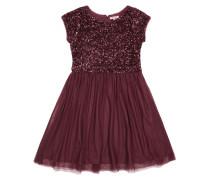 Kleid aus Mesh mit Pailletten-Besatz