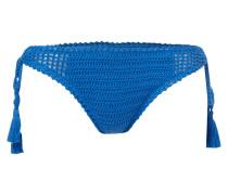Bikinislip mit handgestricktem Besatz