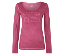 Longsleeve im Washed Out Look mit Logo-Aufnäher