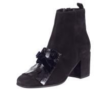 Stiefelette aus Veloursleder mit Shoe Flaps