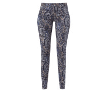 5-Pocket-Hose mit ornamentalem Muster