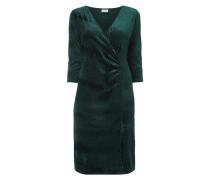 Kleid aus Samt mit V-Ausschnitt in Wickeloptik