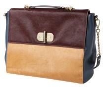 Handtasche aus Leder mit Fellbesatz