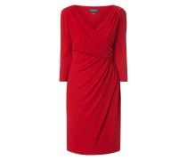 Kleid mit Drapierung in Wickeloptik