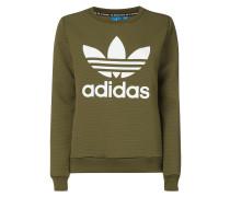 Sweatshirt mit Logo-Print und Gitterstruktur