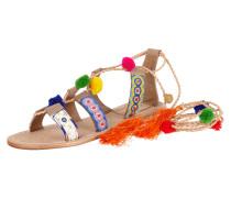 Sandalen mit Schnürung in Flechtoptik