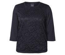 PLUS SIZE - Sweatshirt mit floraler Spitze
