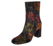 Stiefelette aus Textil mit Blumenmuster