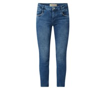 Cropped Jeans mit Stretch-Anteil Modell 'Naomi'