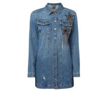 Jeansjacke mit Stern-Aufnähern