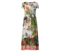 Kleid aus Chiffon mit exotischem Muster