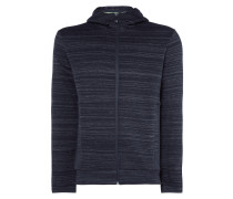 Slim Fit Sweatjacke mit Kapuze