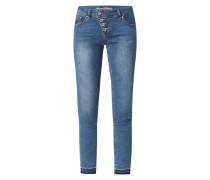 Slim Fit Jeans mit Stretch-Anteil Modell 'Malibu 7/8'