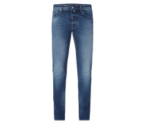 Stone Washed Comfort Slim Fit Jeans