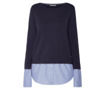 Pullover mit gestreiftem Kontrastbesatz
