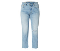 Cropped Jeans im Used Look