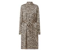 Blusenkleid mit Leopardenmuster