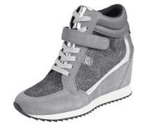 Sneaker Wedges mit schimmerndem Besatz