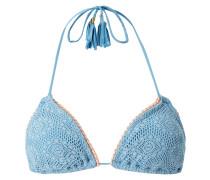 Bikini-Oberteil aus floraler Spitze mit wattierten Cups Modell 'Gleo'