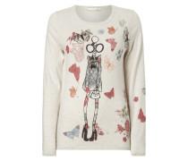 Pullover mit Motiv-Prints