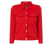 Cropped Jeansjacke aus Coloured Denim