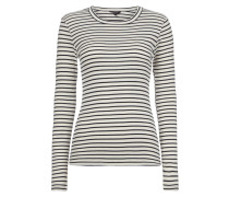 Shirt mit Streifenmuster - gerippt
