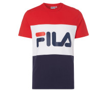 T-Shirt im dreifarbigen Design