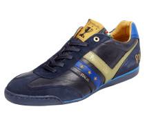 Sneaker aus echtem Glatt- und Veloursleder