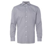 Slim Fit Business-Hemd mit Pepitamuster