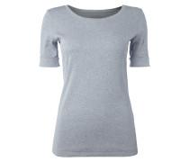 Shirt mit gerippter Struktur und Dreiviertel-Ärmeln