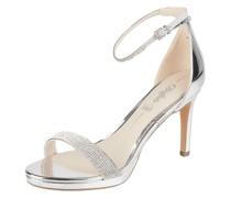 Sandalette in Metallic-Optik
