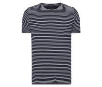 T-Shirt mit strukturiertem Streifenmuster