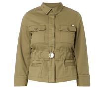 Jacke mit elastischem Taillengürtel
