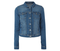 Jeansjacke im Stone Washed-Look