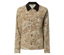 Jeansjacke mit Camouflage-Muster Modell 'Michigan'