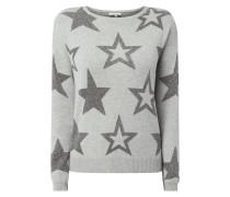 Pullover mit Sternen aus Effektgarn
