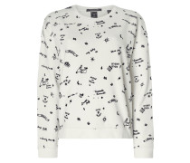 Boxy Fit Sweatshirt mit Allover-Muster
