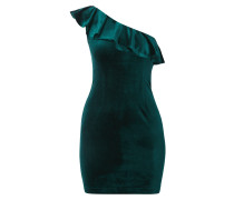 One-Shoulder-Kleid aus Samt