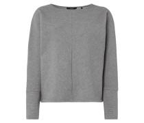 Sweatshirt mit strukturiertem Streifenmuster