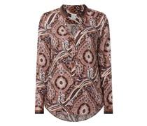 Blusenshirt aus Viskose mit Ornament-Muster