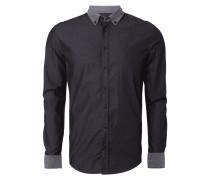 Slim Fit Freizeithemd mit Details aus Denim