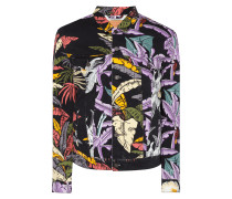 Trucker Jacket mit floralem Muster