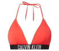 Bikini-Oberteil mit eingewebtem Logo