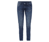 Mid Skinny Fit 5-Pocket-Jeans im Stone Washed-Look