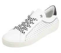 Sneaker aus Leder mit sternförmigen Perforationen