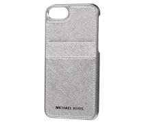 iPhone Case mit Besatz aus Saffianoleder