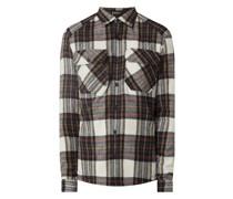 Slim Fit Freizeithemd mit Woll-Anteil Modell 'Phasmo'