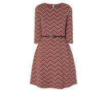 Kleid mit strukturiertem Zickzack-Muster