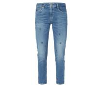 Stone Washed Slim Boyfriend Fit Jeans