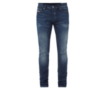 Double Stone Washed Slim-Carrot Fit Jeans